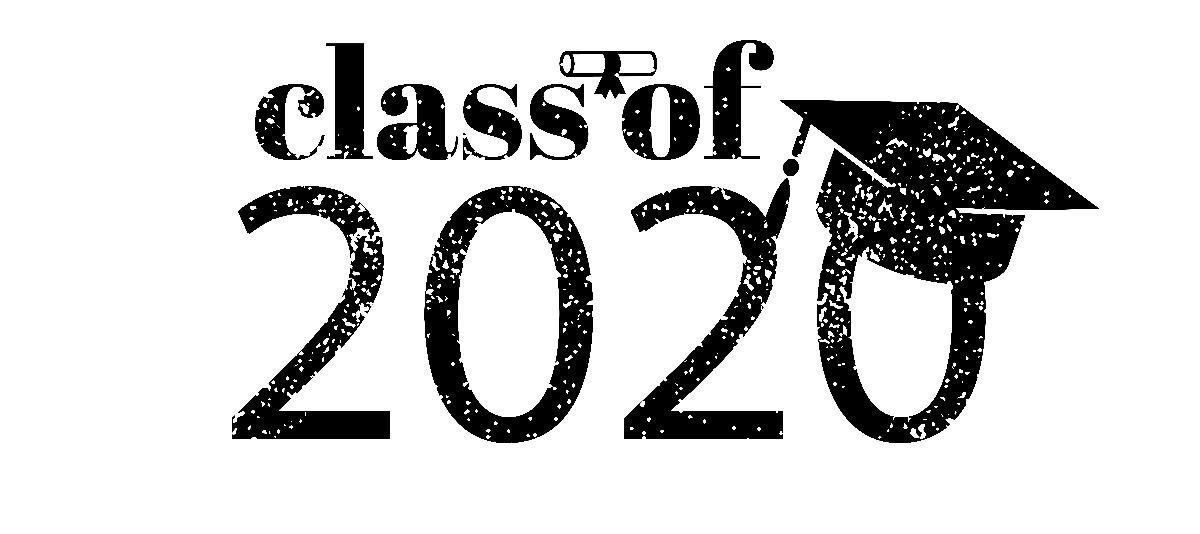 Class of 2020 Black w Cap - 1200 Pixels